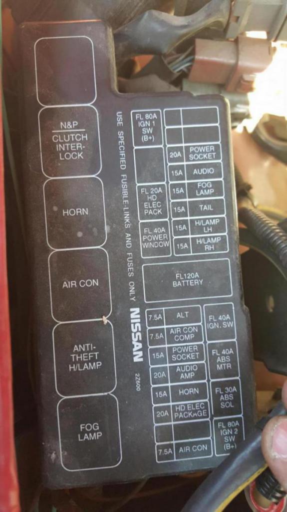 '03 frontier fuse block labels worn off underhood - nissan forum