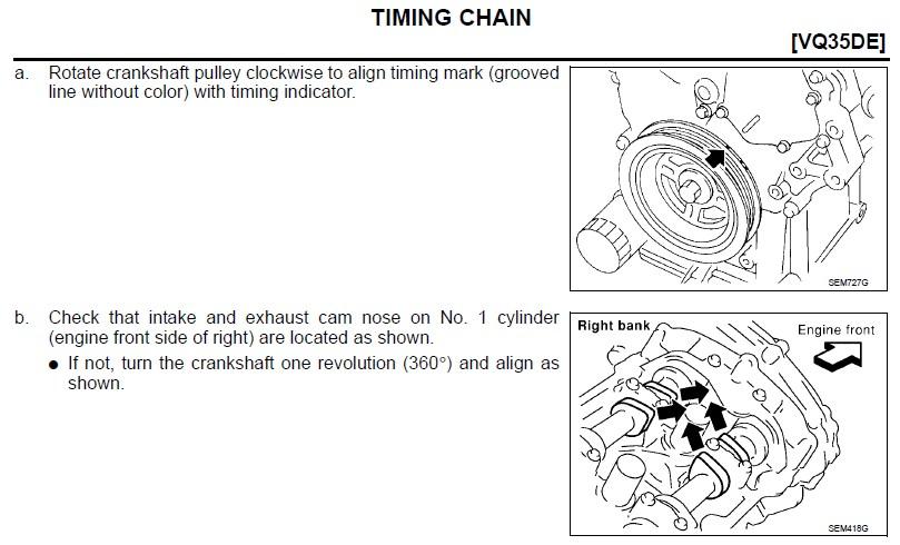 2005 3 5L - Crank adjust to TDC on #1, NEED HELP!!   Nissan Forum