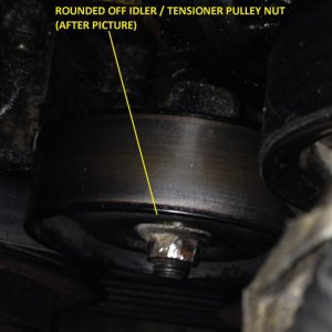 Rounded off pulley nut